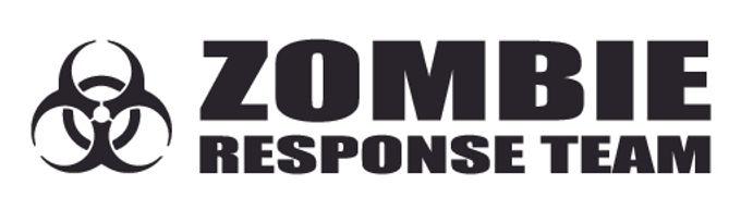 ZOMBIE RESPOSE TEAM Biohazard Bumper Decal Sticker