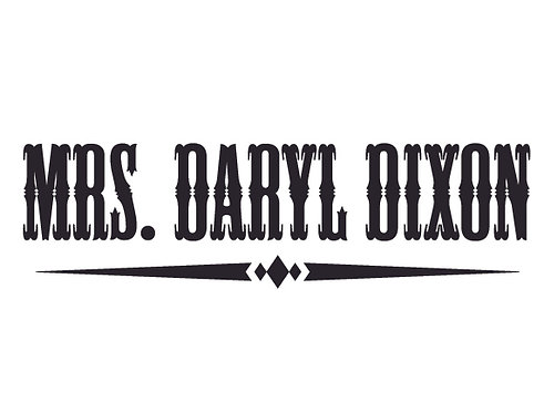 MRS. DARYL DIXON Decal Sticker