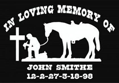 In loving memory of cross horse cowboy Decal Sticker