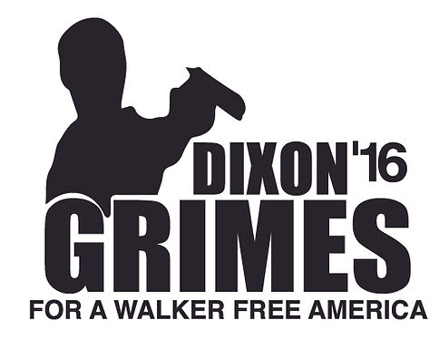 DIXON GRIMES For a walker free America Decal Sticker