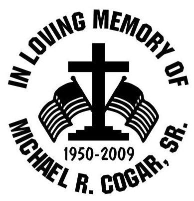 Cross american flag in loving memory of Decal Sticker