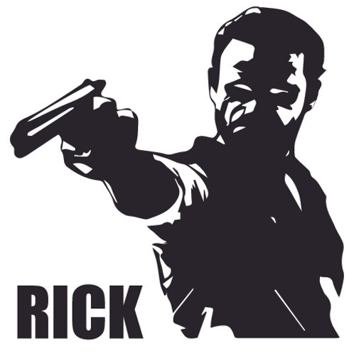 RICK GRIMES Angry Zombie Walking Dead Decal Sticker