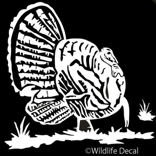 Fat Gobbler TURKEY Hunting Window Decal Sticker