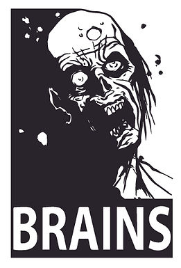 BRAINS The real breakfast Decal Sticker