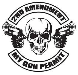 2nd Amendment - MY GUN PERMIT Decal Sticker