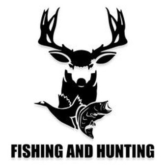 FISHING AND HUNTING DEER GEESE FISH Decal Sticker