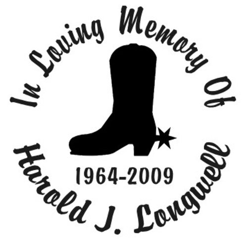 Boot cowboy cowgirl In loving memory of Decal Sticker
