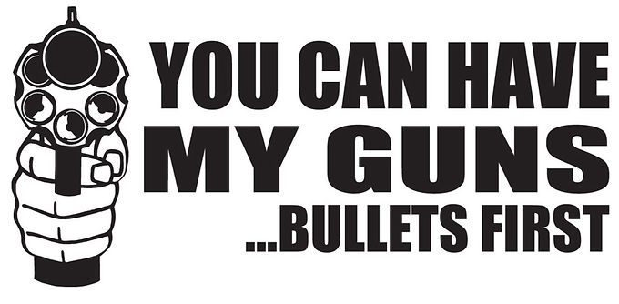 You Can Have My Gun...Bullets First Decal
