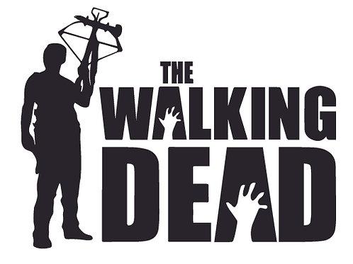 DARYL & Bow Walking Dead Decal Sticker