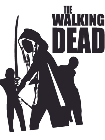 Michonne and her armless demons Walking Dead Decal