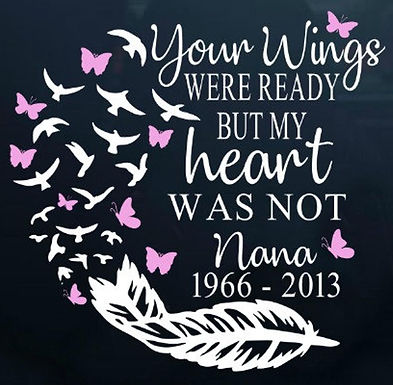 Your wings were ready feather butterflies Decal Sticker