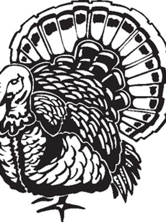 Huge Gobbler TURKEY Hunting Window Decal Sticker