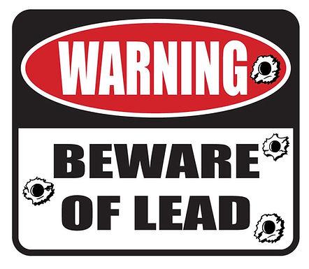 BEWARE of the LEAD Gun Decal Sticker