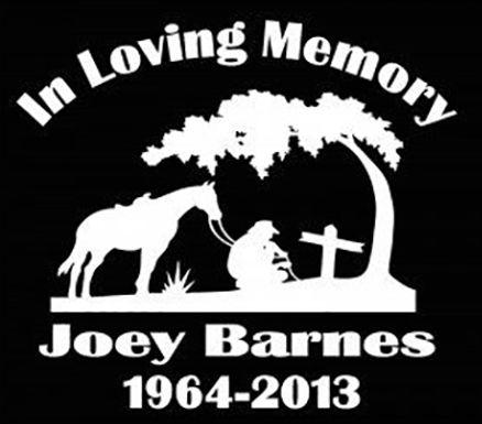 Kneeling in loving memory of cross horse tree cowboy Decal Sticker