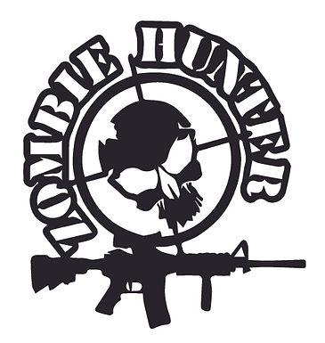 ZOMBIE HUNTER Skull Decal Sticker