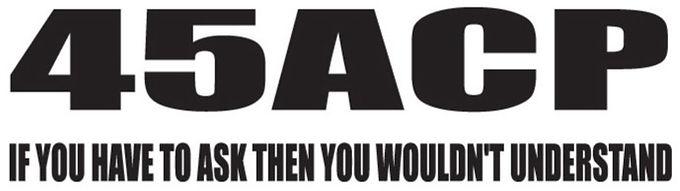 45ACP Gun Decal Sticker