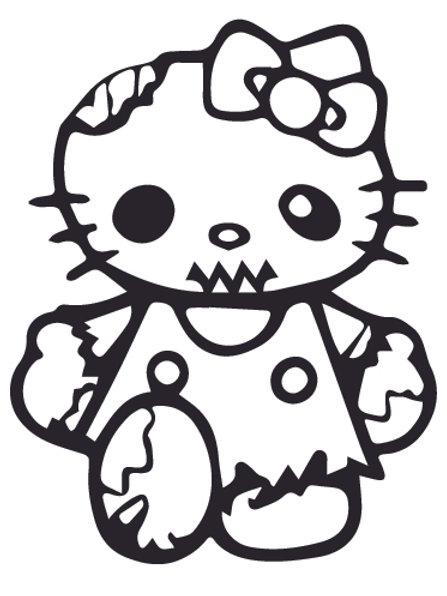 HELLO KIRRY ZOMBIE 3 Decal Sticker