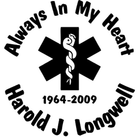 Always in my heart rescue unit med Decal Sticker