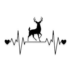 Deer Hunting Heartbeat Pulse Hunting Decal Sticker