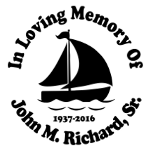 In Loving Memory of sailboat nautical Decal Sticker