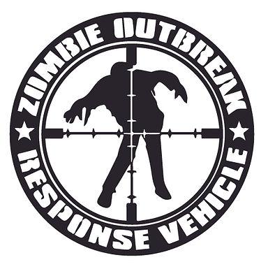 ZOMBIE OUTBREAK RESPONSE TEAM Bullseye Walker Decal Sticker