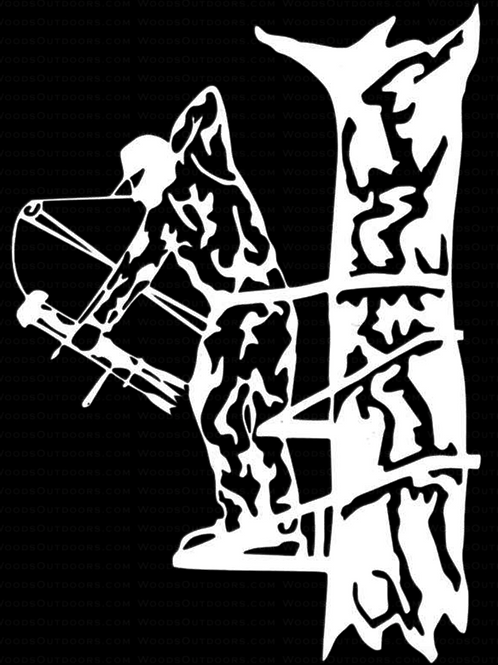 BOWHUNTER Tree Stand 2 Hunting Decal Sticker