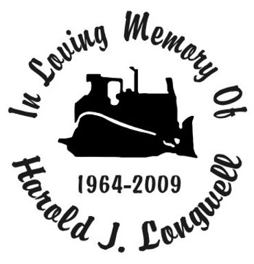 Always in my heart backhoe Decal Sticker
