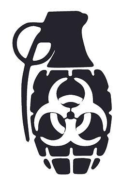 Biohazard Zombie Grenade Decal Sticker
