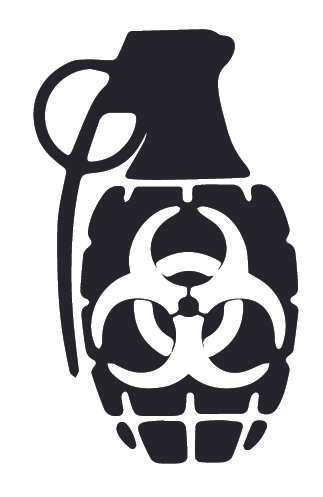 Biohazard Zombie Grenade Decal Sticker
