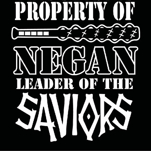 Property of NEGAN Leader Of the Saviors - Walking Dead Decal Sticker