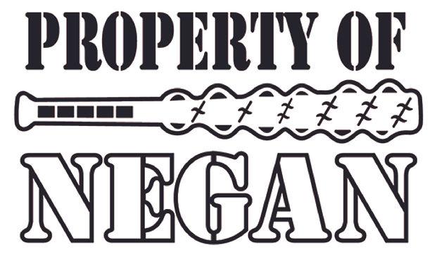 Property of NEGAN - Walking Dead Decal Sticker