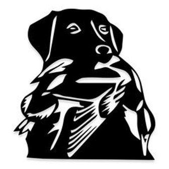 Bird in the Mouth of Dog Duck Hunter Decal Sticker