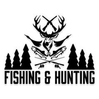 FISHING AND HUNTING Decal Sticker 2