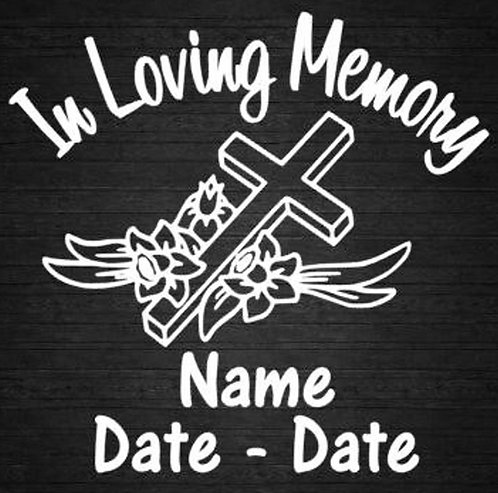 Forever in our hearts cross Decal Sticker