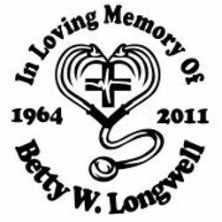 In loving memory of doctor nurse Decal Sticker