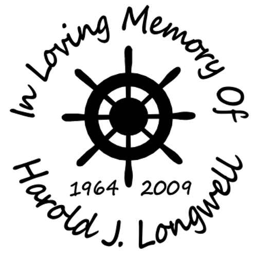 In loving memory of nautical boat wheel Decal Sticker