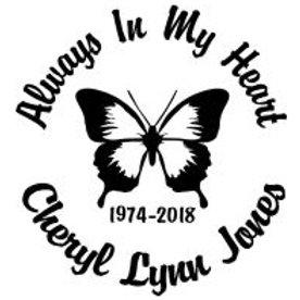 Always in my heart butterfly 5 Decal Sticker