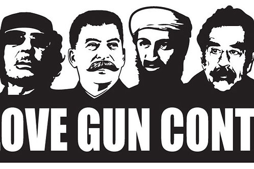 WE LOVE GUN CONTROL Gun Decal Sticker
