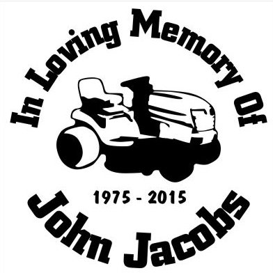 In Loving Memory of lawn mower Decal Sticker