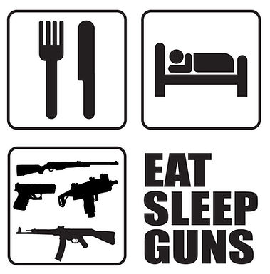 EAT SLEEP GUNS Gun Decal Sticker