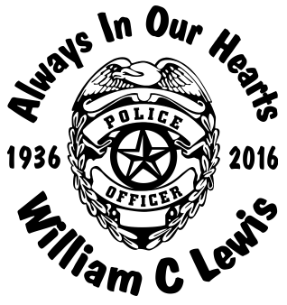Always in our hearts deputy sheriff badge Decal Sticker