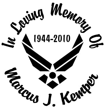 In Loving memory of AIR FORCE Decal Sticker