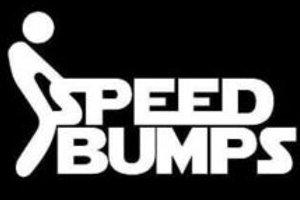 FUCK Speed Bumps Stick Man Decal Sticker
