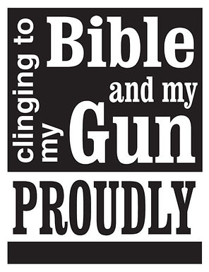 Clinging to my bible and my Gun Decal Sticker