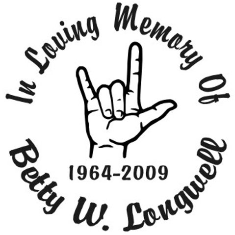 In loving memory of I love you hand sign Decal Sticker
