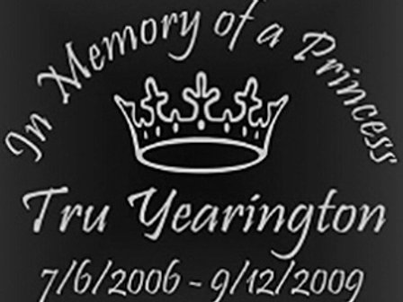 In memory of a princess Decal Sticker