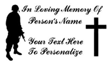 In memory of soldier cross Decal Sticker