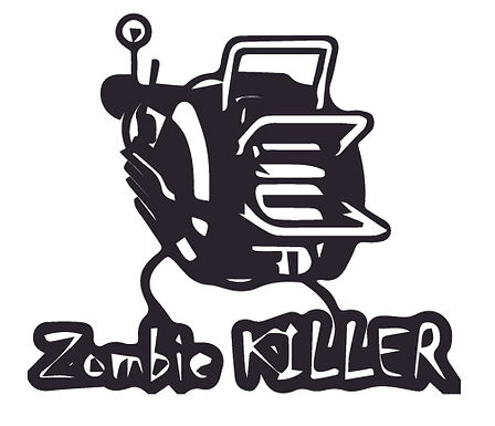 ZOMBIE KILLER Ray Gun Decal Sticker