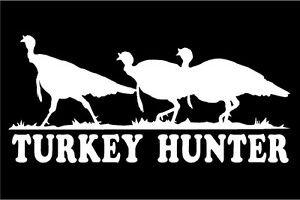 Turkey Hunter Hens TURKEY Hunting Window Decal Sticker