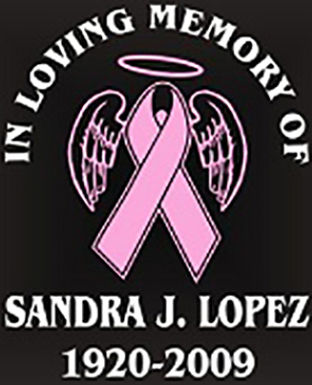 In loving memory cancer ribbon wing Decal Sticker